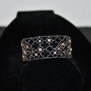 Alexis Bittar Gun Metal Crystal Studded Spur Lace